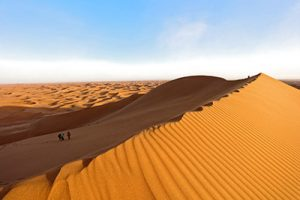 Dunes du désert du Sahara à Chégaga au Maroc