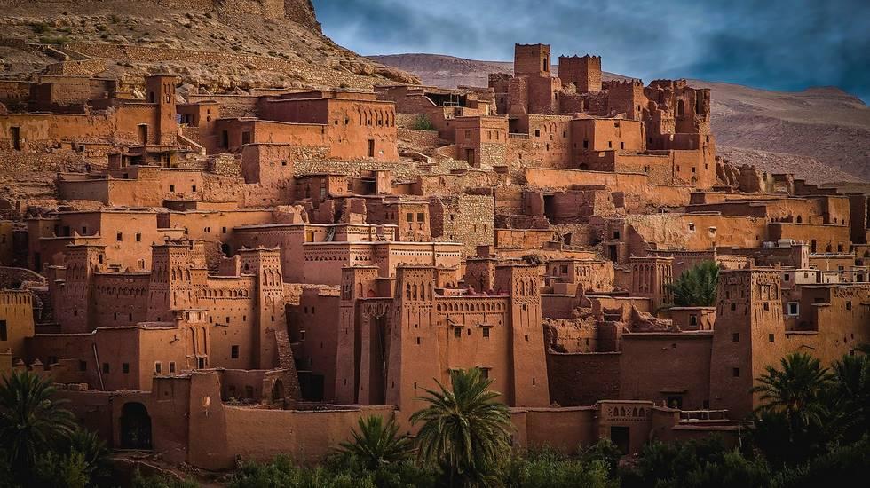 Village d'Aït Ben Haddou dans la région de Ouarzazate au Maroc, classé au patrimoine mondial de l'UNESCO