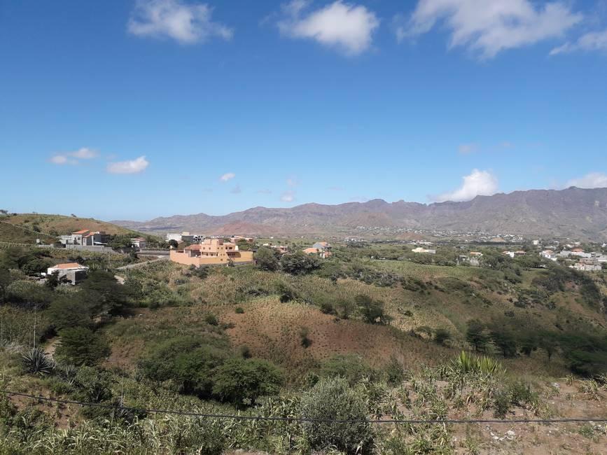 Paysage de l'île de Santiago au Cap-Vert