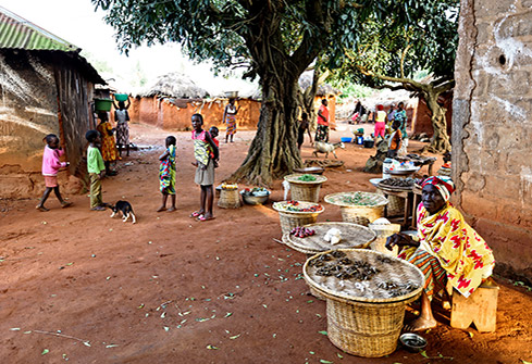 la vie dans le village de Yohonou au Togo