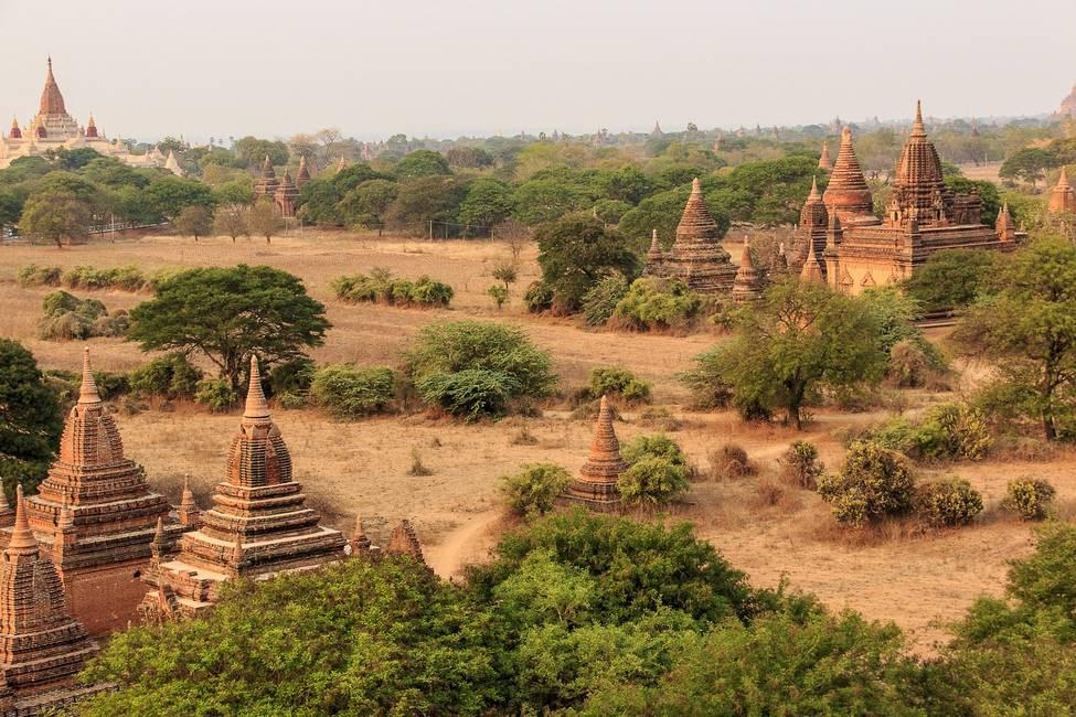 Temples et pagodes du site historique de Bagan en Birmanie
