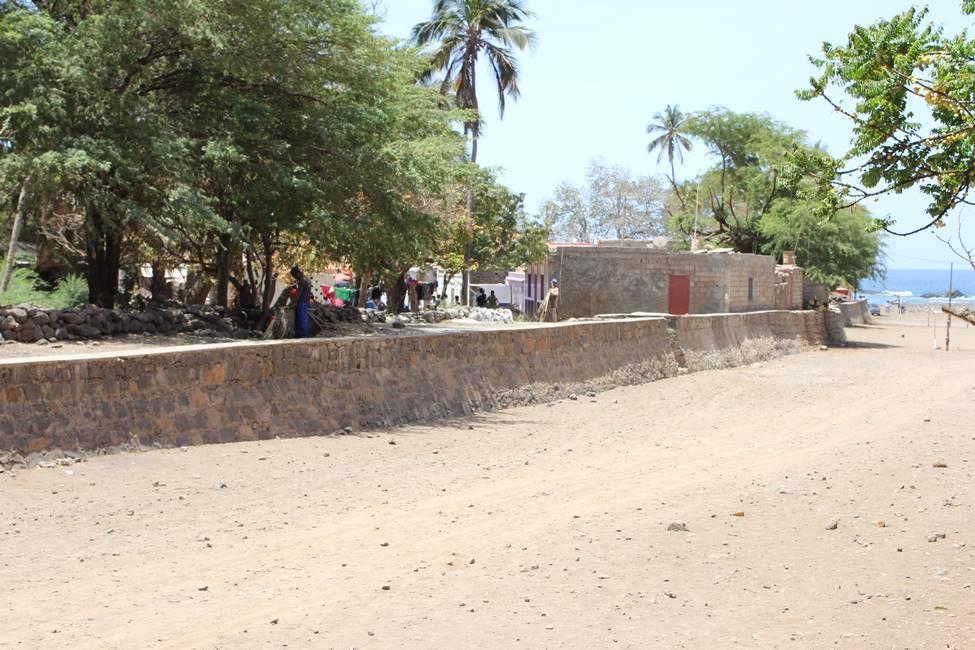 Plage de Cidade Velha sur l'île de Santiago au Cap-Vert
