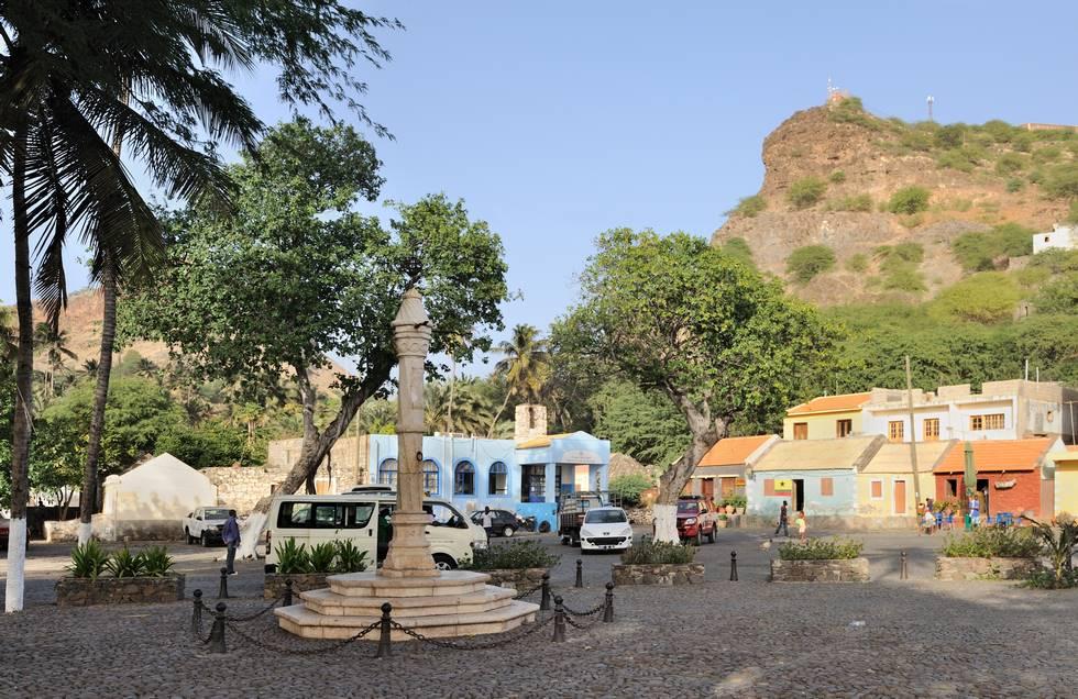 Square de Pelourinho à Cidade Velha sur l'île de Santiago au Cap-Vert