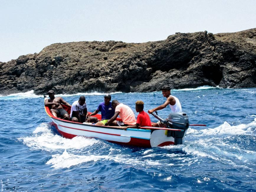 Sortie en bateau de pêche à Porto Mosquito sur l'île de Santiago au Cap-Vert