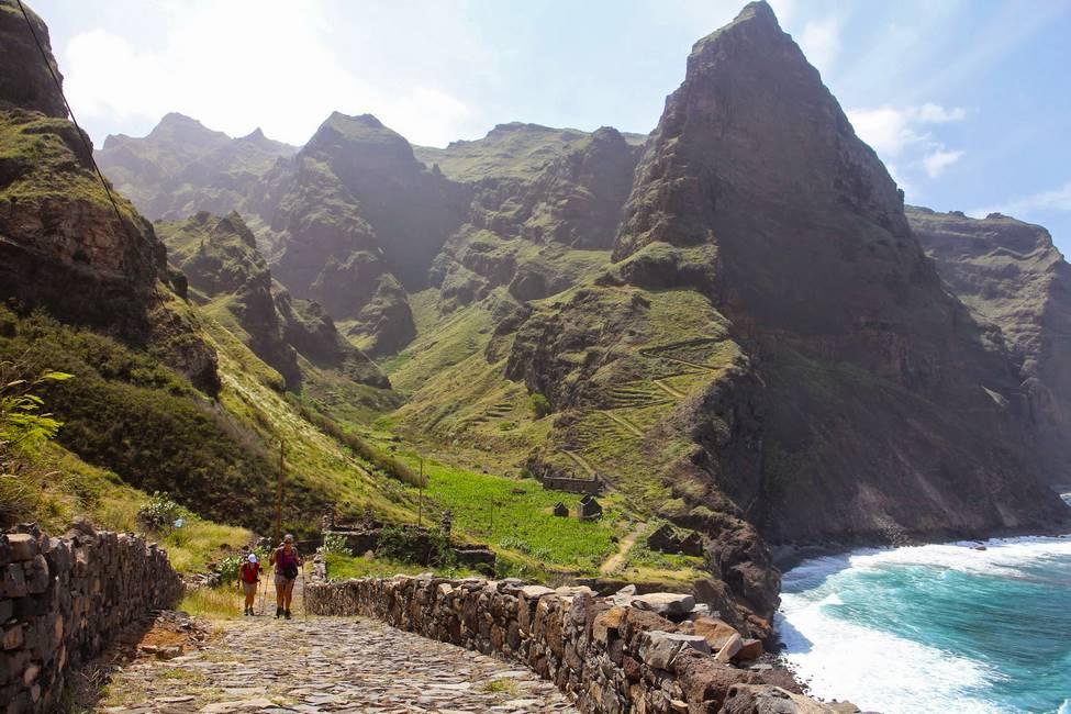 Paysage du littoral nord de Santo Antao