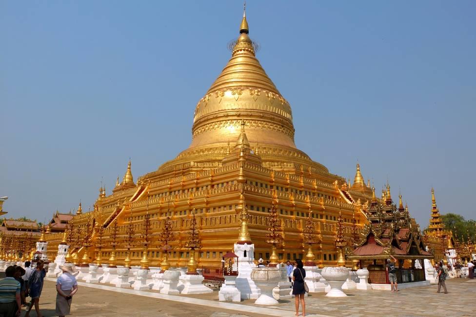 Pagode de Shwe Zi Gone à Bagan en Birmanie