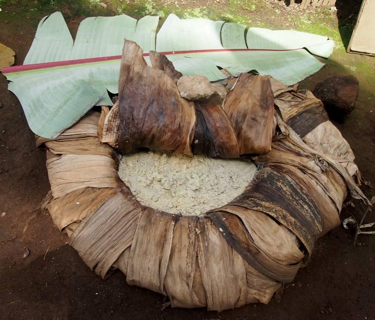 Plat éthiopien à base de pulpe d'ensete ou faux bananier