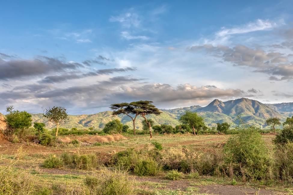 Paysage du sud de l'Ethiopie