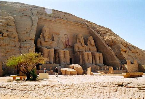Site historique d'Abou Simbel dans le sud de l'Egypte