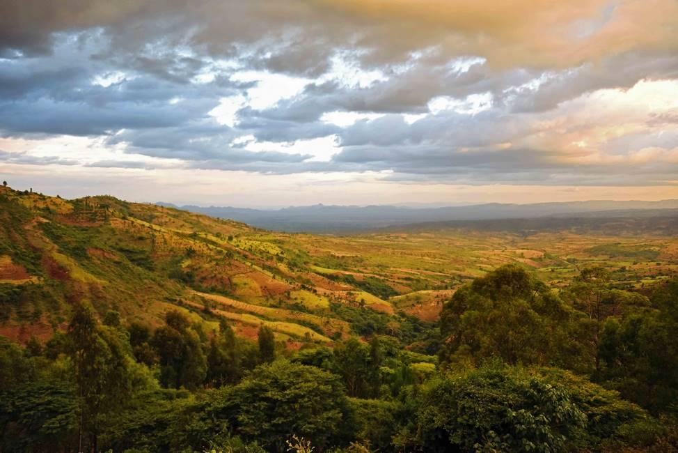 Paysage dans la région de la vallée de l'Omo au sud de l'Ethiopie