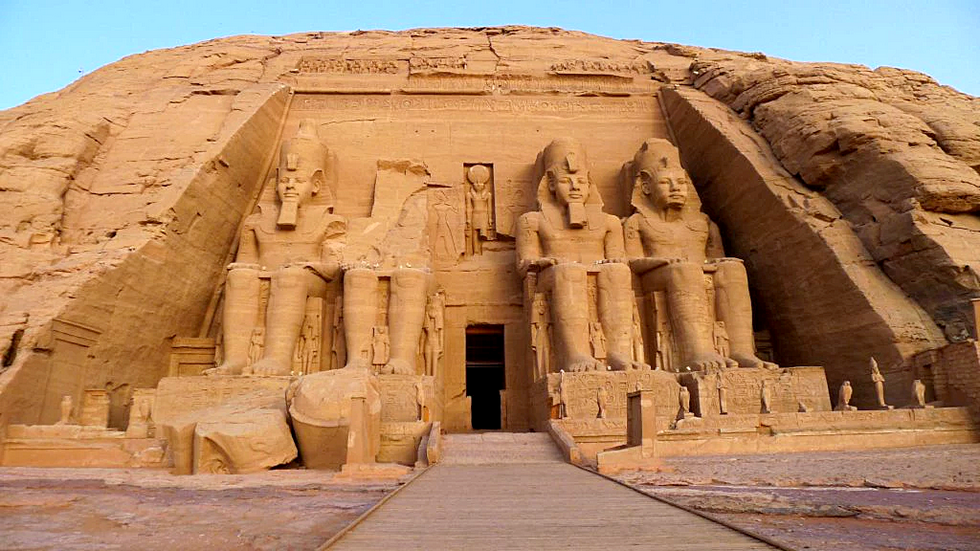 Temple d'Abou Simbel au Sud de l'Egypte