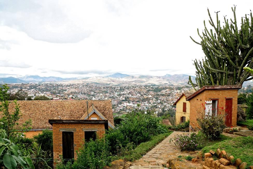 Quartier de la vieille ville de Fianarantsoa dans les hautes terres à Madagascar