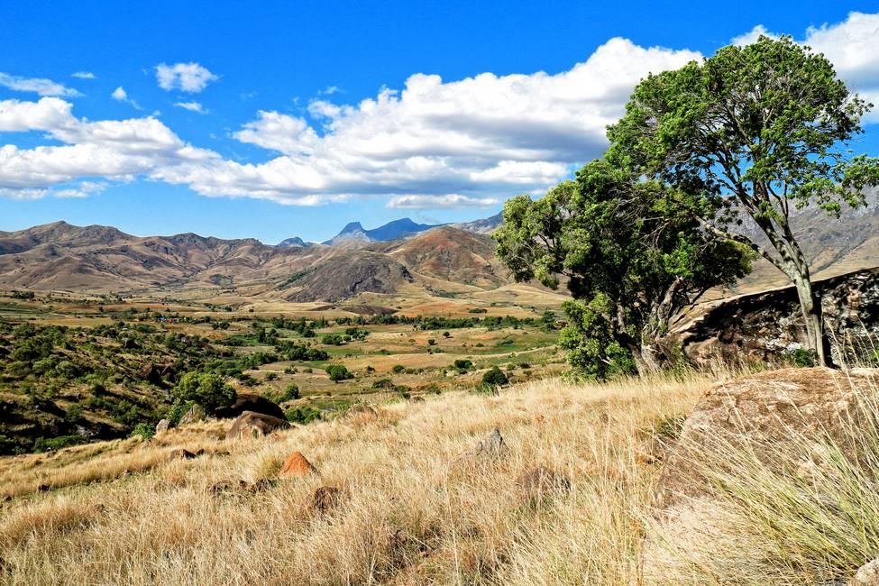 Paysage de la vallée de Tsaranoro à Madagascar