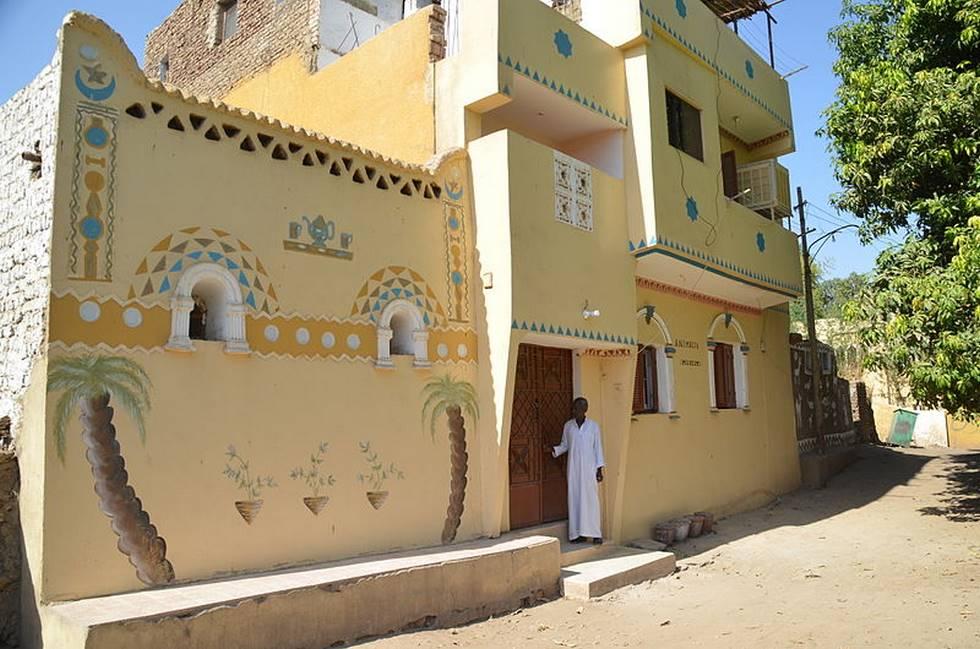 Maison nubienne à Assouan dans le sud de l'Egypte