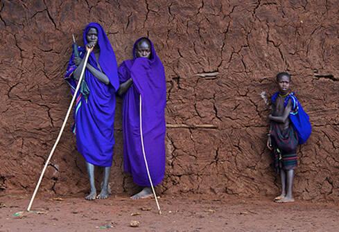 Ethnie de la vallée de l'Omo dans le sud de l'Ethiopie