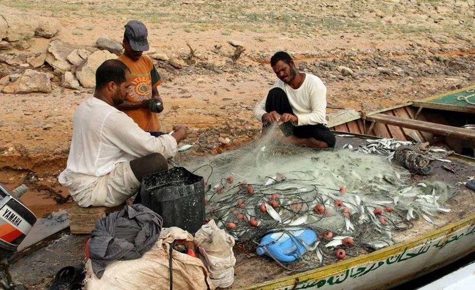 Pêcheurs du lac Nasser dans le sud de l'Egypte