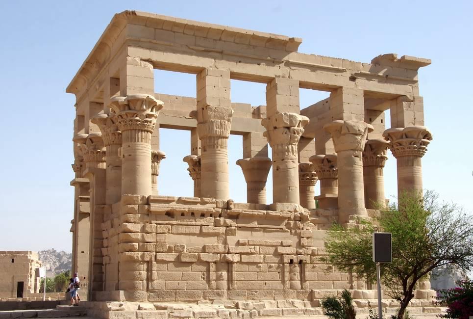 Ruines du temple de Philae proche d'Assouanau sud de l'Egypte