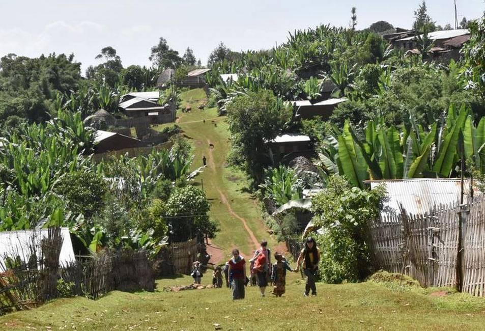 Village de l'ethnie Dorze au sud de l'Ethiopie