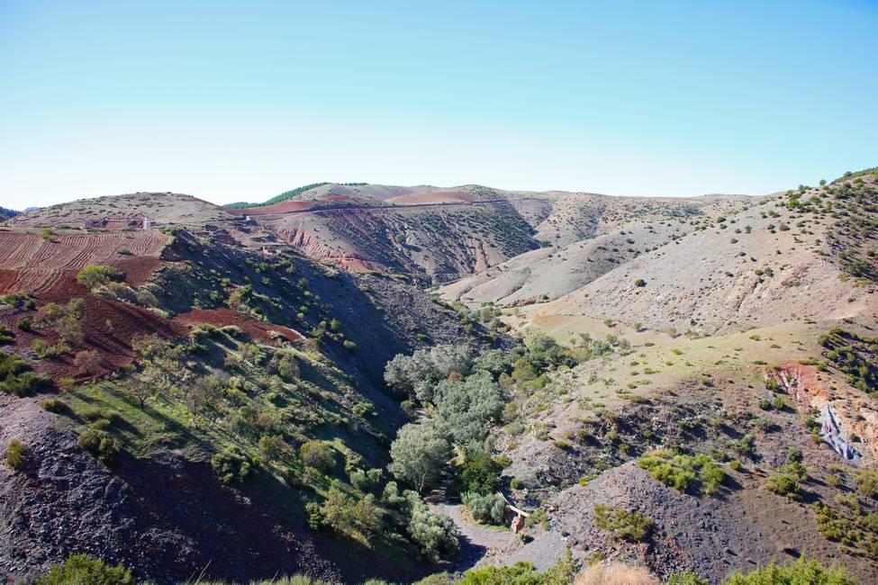 Paysage de la vallée de l'Ourika au Maroc