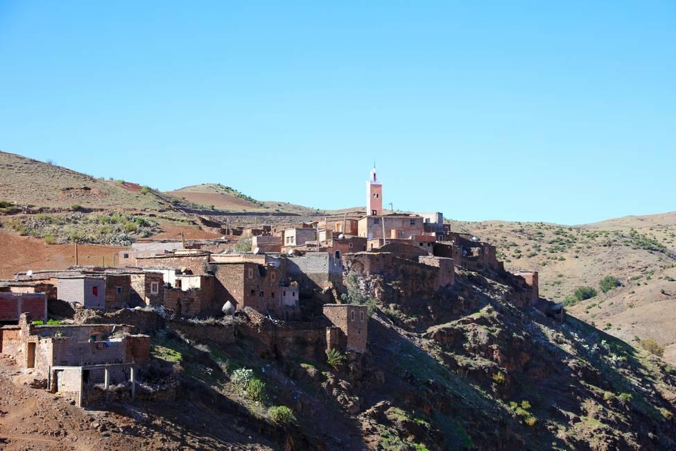 Village berbère de la vallée de l'Ourika au Maroc