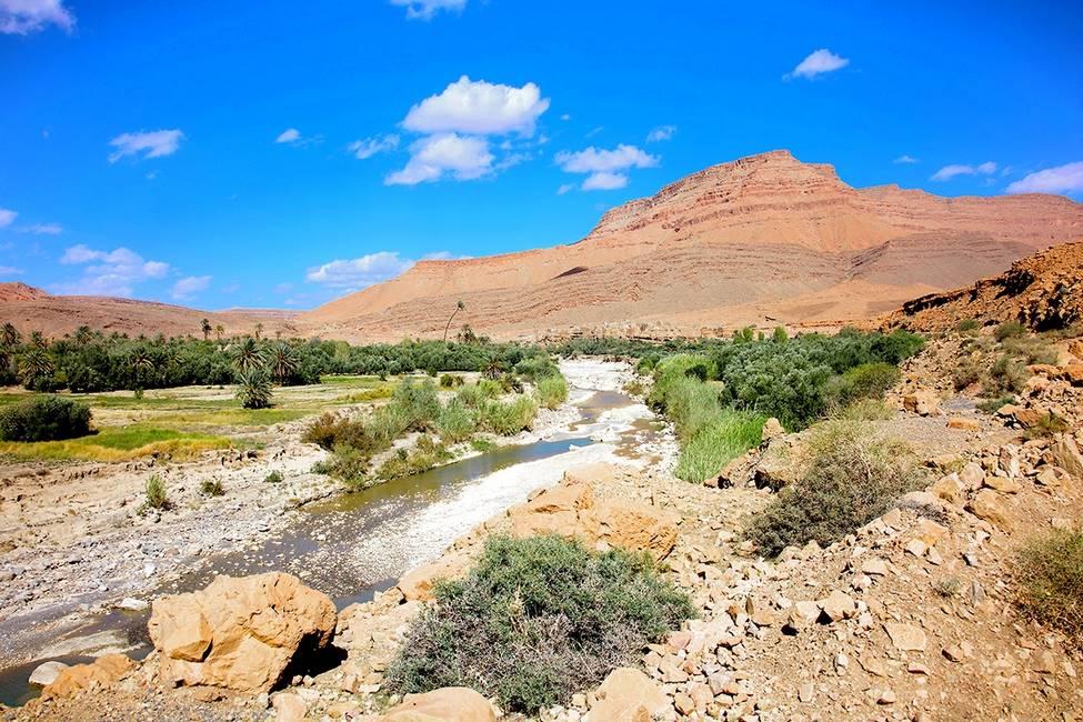 Paysage des gorges du Ziz près d'Errachidia