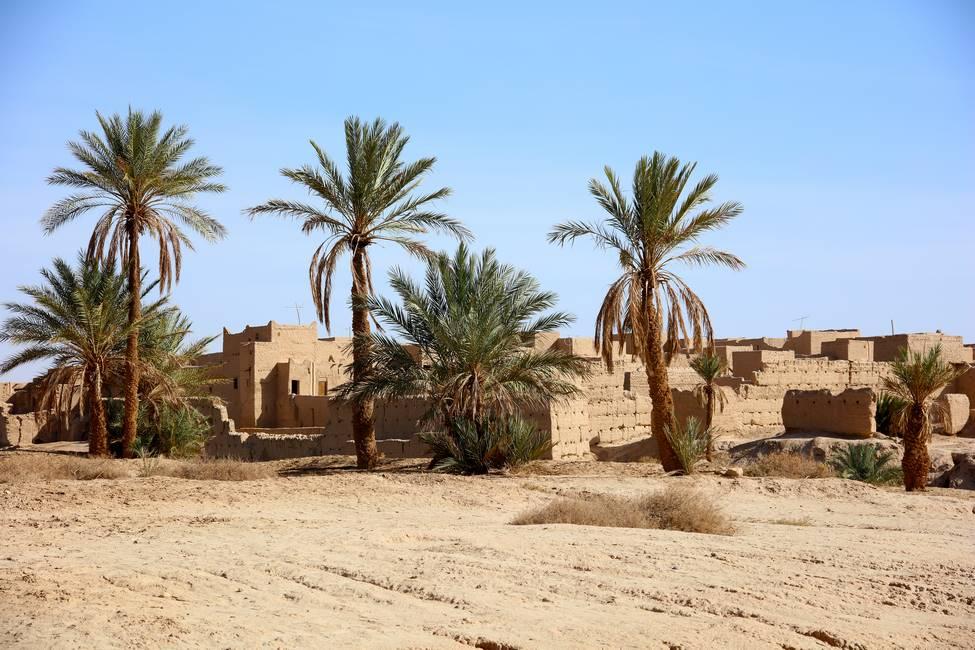 Ancien ksar d'Erfoud dans la vallée du Ziz proche de Merzouga au Maroc