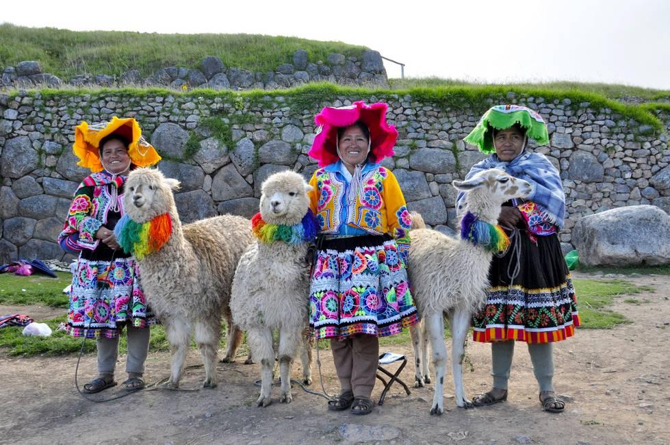 Péruviennes avec leurs alpagas