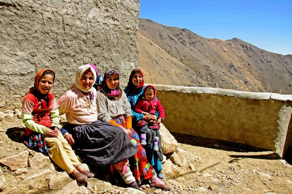 Femmes berbères dans un village de l'anti-Atlas au Maroc