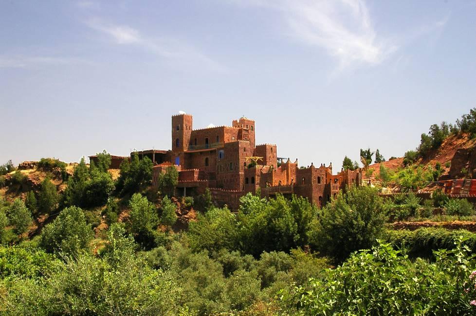Kasbah de la vallée de l'Ourika dans le haut-Atlas au Maroc