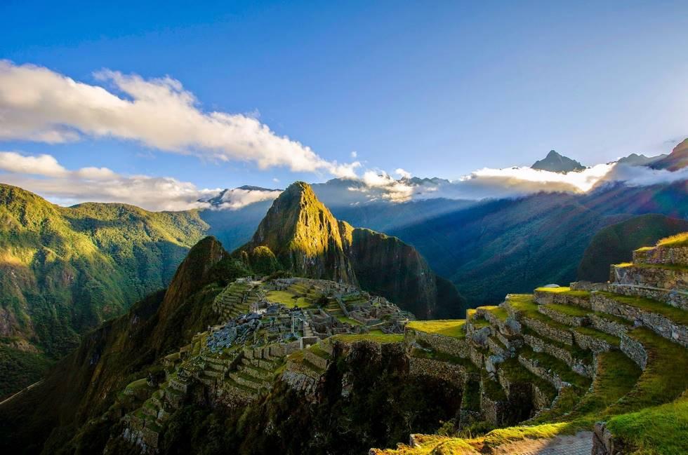 Site archéologique Inca du Machu Picchu dans les Andes au Pérou