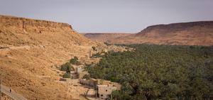 Vallée du Ziz près d'Errachidia et d'Erfoud au Maroc