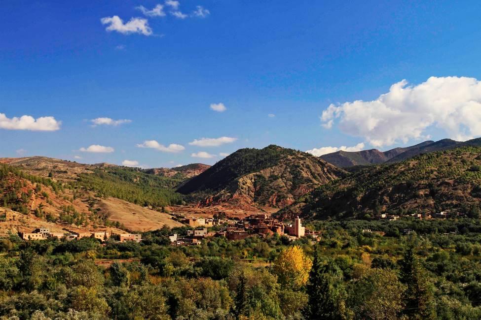 Vallée de l'OUrika au Maroc