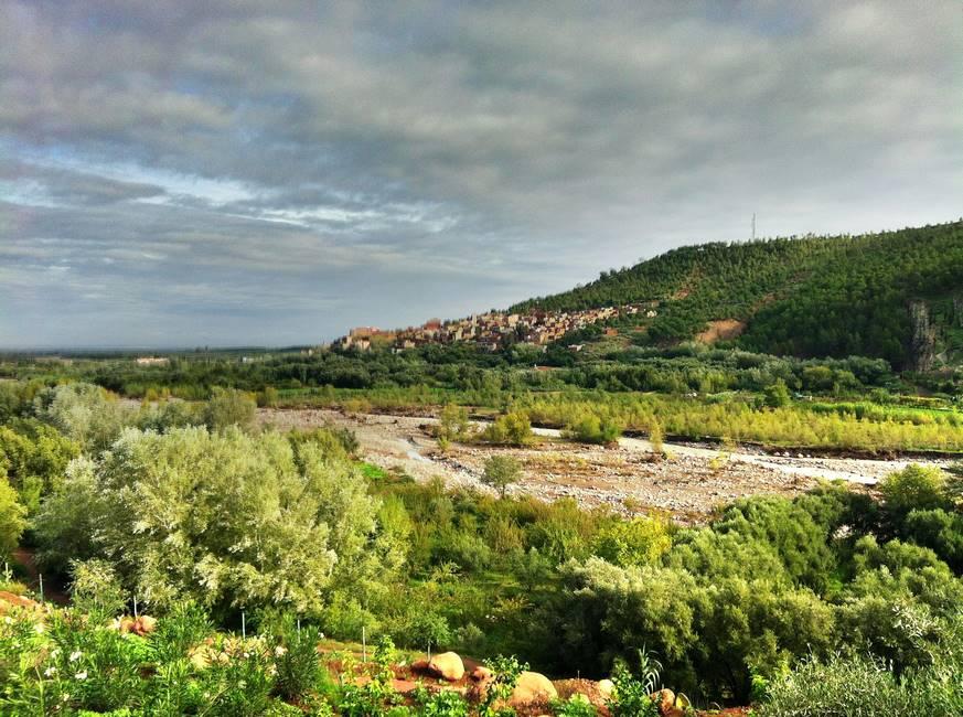 Vallée de l'Ourika dans le Haut-Atlas au Maroc