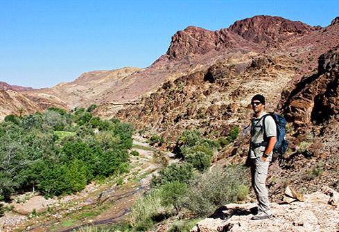 Randonnée dans les montagnes de l'anti-Atlas au Maroc