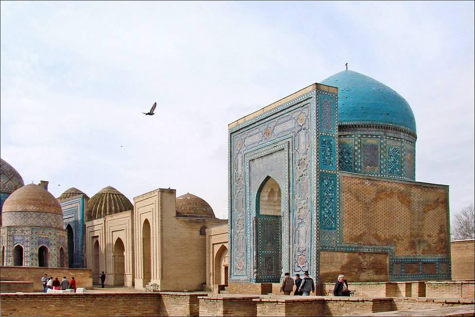 Mausolée de Sha-i-Zinda à Samarcande en Ouzbzkistan