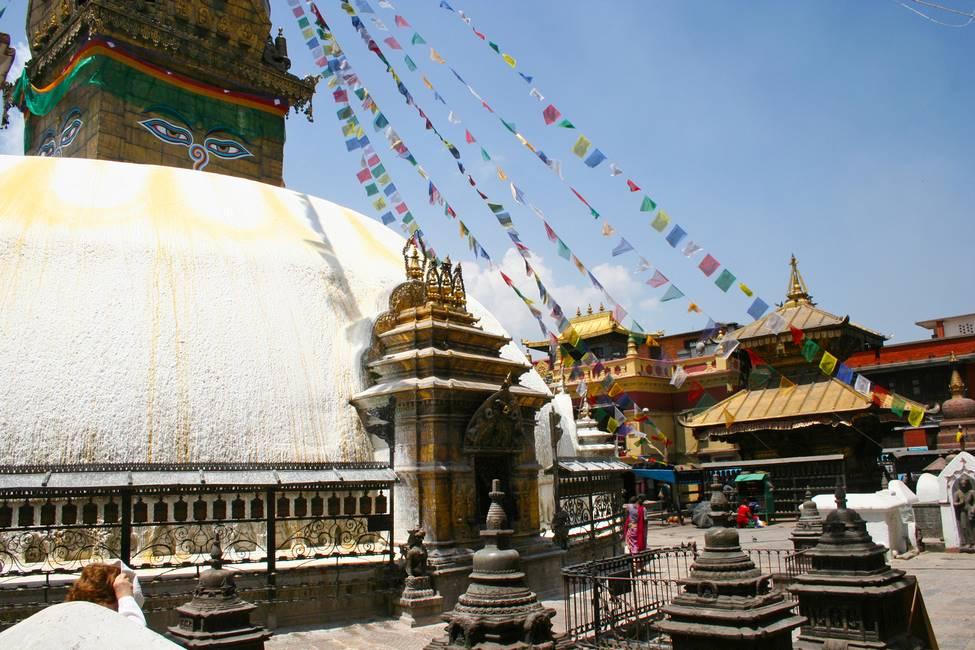Stoupa de Swayambhounath à Katmandou, Népal
