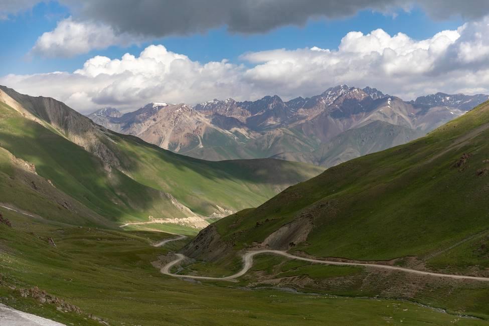 Paysage de montagne au Kirguizistan