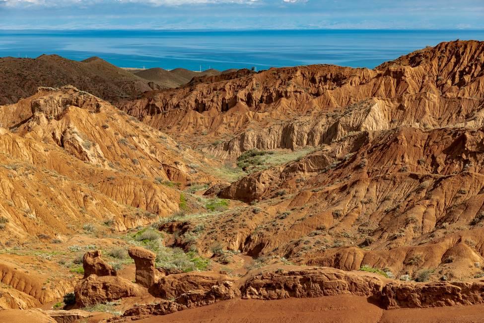 Paysage de canyons au Khirghizistan