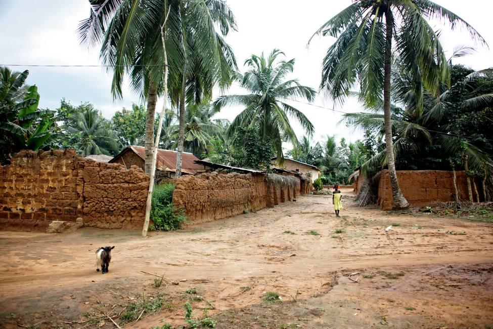 Village au sud du Togo