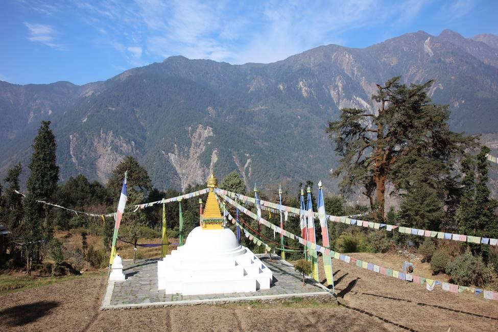 Stoupa dans les montagnes du Langtang, Népal