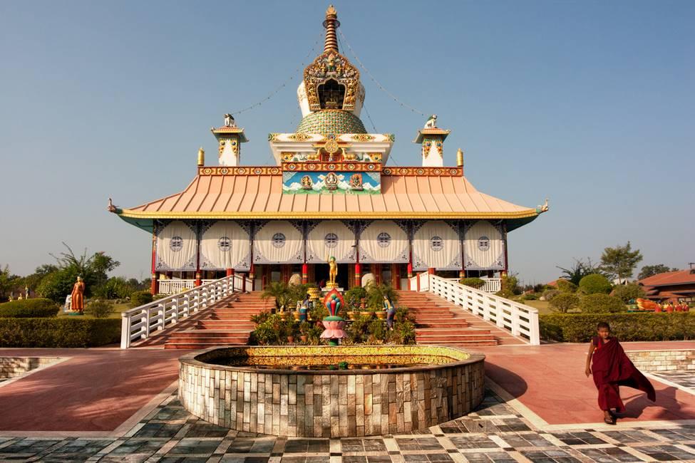 Temple allemandà Lumbini au Népal