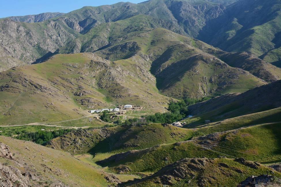 Paysages des montagnes d'Asraf en Ouzbékistan