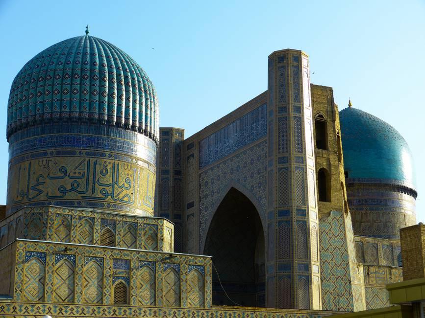 Mosquée Bibi-Khanym à Samarcande en Ouzbékistan