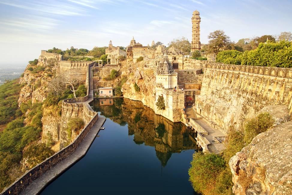 Fort de collines du Rajasthan
