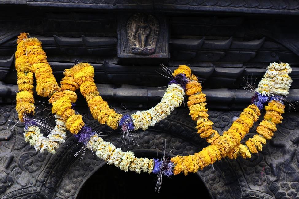 Collier de fleurs offrande à Katmandou, Népal