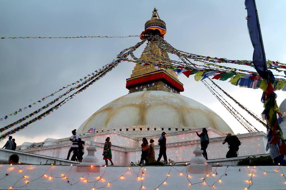 Stoupa de Bodnath à Katmandou au Népal