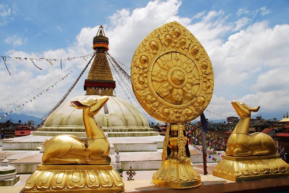Stoupa de Bodnath à Katmandou, Népal