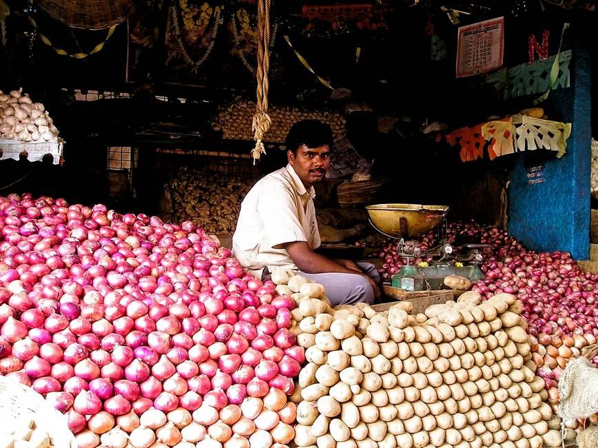 Marché dans le Kérala au sud de l'Inde