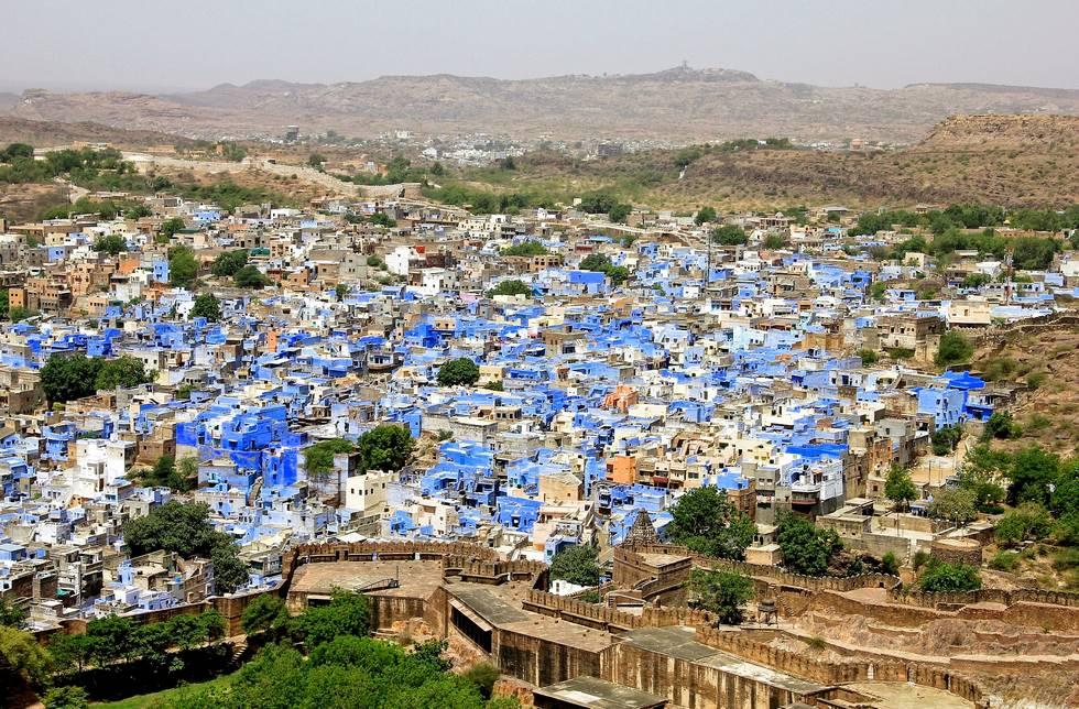 Vue panoramique sur la ville bleue de Jodhpur