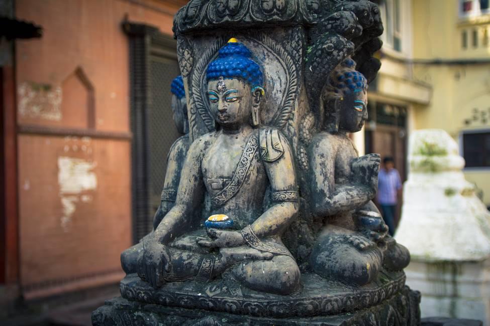 Bouddha en bas relief à Katmandou, Népal